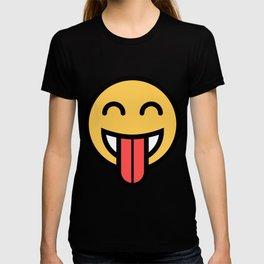 Smiley Face   Big Tongue Out T-shirt
