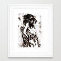 hentai Framed Art Prints featuring Hentai by Vivian Volcano