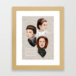 Leia and Janeway and Scully, oh my Framed Art Print