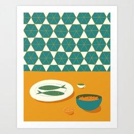 Fish Supper IV Art Print