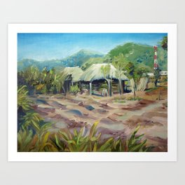 Central American Coffee Field Art Print