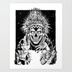 INVASION - Black and white variant Art Print