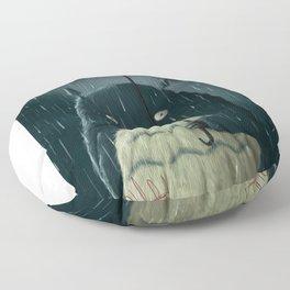 I love the rainy nights Floor Pillow