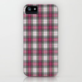 brooklyn red & white - holiday and everyday classic red white plaid check tartan iPhone Case