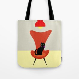 Cat on a sofa Tote Bag