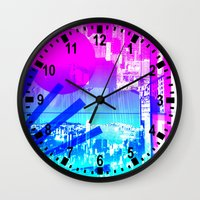 transparent Wall Clocks featuring transparent flags by seb mcnulty