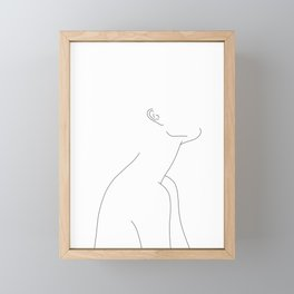Minimalist figure illustration - Zina Framed Mini Art Print