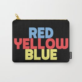 Re Yellow Blue Carry-All Pouch