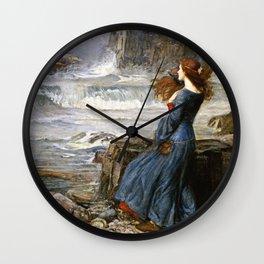 John William Waterhouse - Miranda - The Tempest Wall Clock