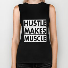 Hustle Makes Muscle Women Workout Gym hustle Biker Tank