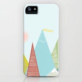 Mountain Peaks! iPhone Case