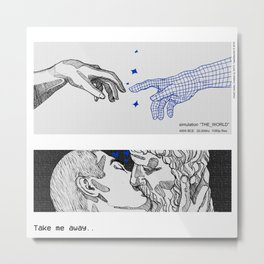 simulation THE_WORLD Metal Print