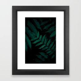 Dark Leaves II Framed Art Print