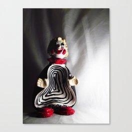 Death Spiral Ashtray Clown Canvas Print