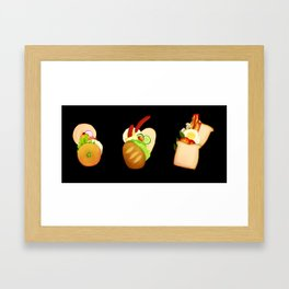 Bread and Sandwiches Framed Art Print