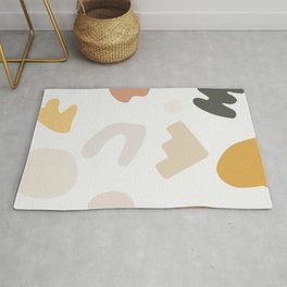 Abstract Shape Series - Autumn Color Study Rug