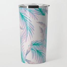 Soft violet floral print Travel Mug