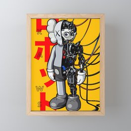 kaws art Framed Mini Art Print