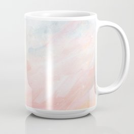 Overwhelm - Pink and Gray Pastel Seascape Coffee Mug