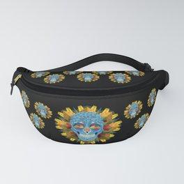 Blue Skull with Mandala Fanny Pack