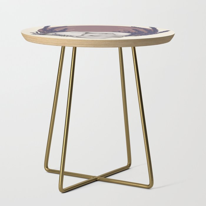 Fox_&_Lavender_Side_Table_by_Jessica_Roux___Gold__Round