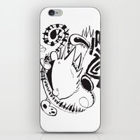 hobbes iPhone & iPod Skins featuring Calvin and Hobbes line-work caricature design by Eric Goodwin