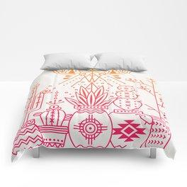Santa Fe Garden – Pink/Orange Ombré Comforters