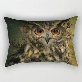 Bird Of the Night Rectangular Pillow