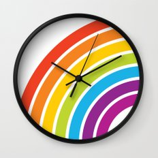 A Rainbow World Wall Clock