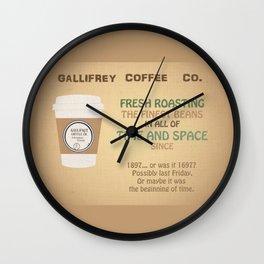 Doctor Who Gallifrey Coffee Wall Clock