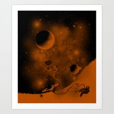 Lost in Negative Space Art Print