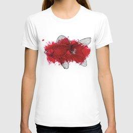 big red fish T-shirt