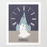 cinderella Art Prints featuring Cinderella by magicblood
