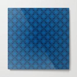Metatron's Cube Damask Pattern Metal Print