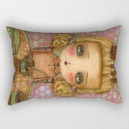 """Goldilocks thinks """"It's for me!"""" Rectangular Pillow"""