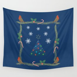 Christmas Pattern Collage Wall Tapestry