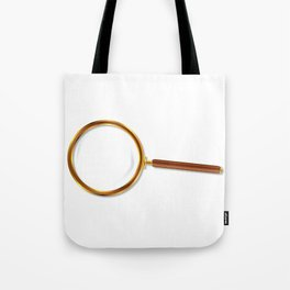 Brass Magnifying Glass Tote Bag