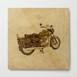Ducati con alforjas - vintage background Metal Print