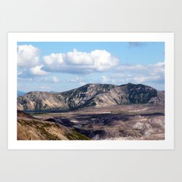 Lake and mountain view near Johnston's Ridge, probably Coldwater Lake and Clearwater Lake Art Print