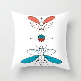Two Insects II Throw Pillow