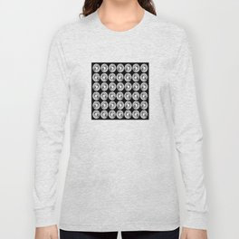 Circle design in black and white Number  9 Long Sleeve T-shirt