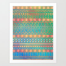 Inspired Aztec Pattern 2 Art Print