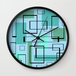 Mid Century Modern Rectangles Wall Clock