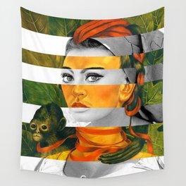 Frida Kahlo's Self Portrait with Monkey & Sophia Loren Wall Tapestry