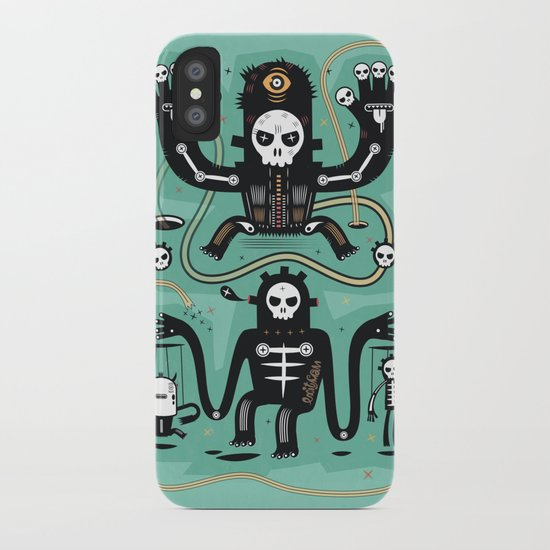 Chamanistik in blue iPhone Case