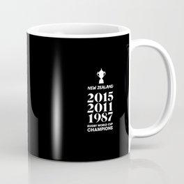 New Zealand Treble Rugby World Cup Champions Coffee Mug