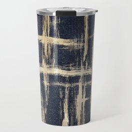 Basket Weave Abstract Travel Mug