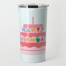 Happy Birthday Cake Travel Mug