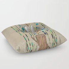 The End Floor Pillow