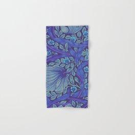 William Morris Indigo Forget Me Not Floral Art Nouveau Hand & Bath Towel